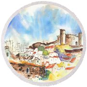 Campo Maior In Portugal 02 Round Beach Towel