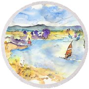 Campo Maior In Portugal 04 Round Beach Towel