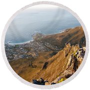 Camps Bay Round Beach Towel by Fabrizio Troiani