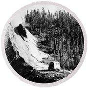 Canada: Alaska Highway Round Beach Towel