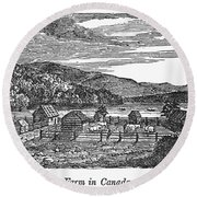 Canada: Farm, C1820 Round Beach Towel