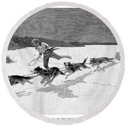 Canada: Fur Trade, 1892 Round Beach Towel