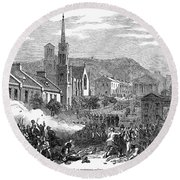 Canada: Gavazzi Riot, 1853 Round Beach Towel