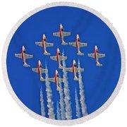 Canadian Air Force - Snowbirds Round Beach Towel