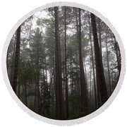 Canadian Forest Round Beach Towel