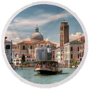 Canal Grande. Venezia Round Beach Towel