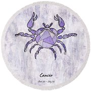 Cancer Artwork Round Beach Towel
