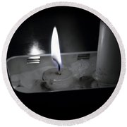 Candle Flame Round Beach Towel