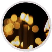 Candle Light Round Beach Towel