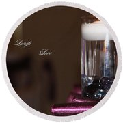 Candle - Live Laugh Love Round Beach Towel