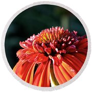 Candy Corn Cone Flower Round Beach Towel