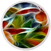 Candy Lily Fractal Panel 2 Round Beach Towel
