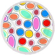 Candy Spots Round Beach Towel by Louisa Knight