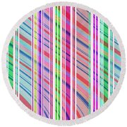 Candy Stripe Round Beach Towel