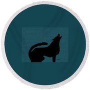Canine  Round Beach Towel