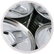 Canned Food Round Beach Towel
