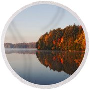 Canoe Lake  Algonquin Round Beach Towel