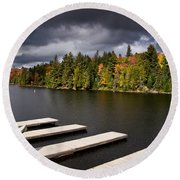 Canoe Lake Round Beach Towel