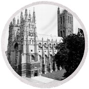 Canterbury Cathedral - England - C 1902 Round Beach Towel