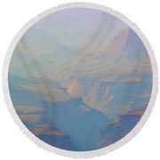 Canyon Close Up Round Beach Towel
