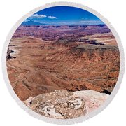 Canyon In Canyonlands Round Beach Towel