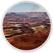 Canyon Lands Round Beach Towel