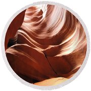 Canyon Waves Round Beach Towel
