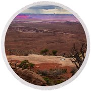 Canyonland Overlook Round Beach Towel