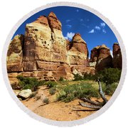 Canyonlands Chesler Park Round Beach Towel