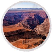 Canyonlands II Round Beach Towel by Robert Bales