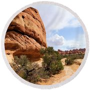 Canyonlands Needles Trail Round Beach Towel