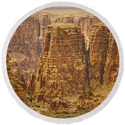 Canyons  Round Beach Towel