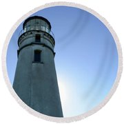 Cape Blanco Light 2 Round Beach Towel