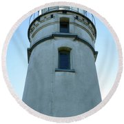 Cape Blanco Light Round Beach Towel