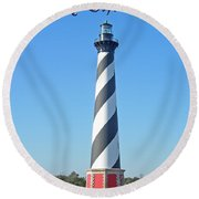 Cape Hatteras Lighthouse - Outer Banks - Christmas Card Round Beach Towel