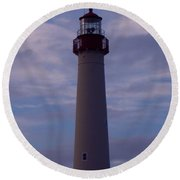 Cape May Lighthouse At Dusk  Round Beach Towel