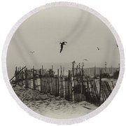 Cape May Morning Round Beach Towel