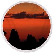 Cape York Sunset Round Beach Towel