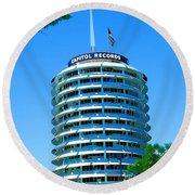 Capital Records Hollywood Round Beach Towel