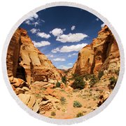 Capitol Reef Cohab Canyon Round Beach Towel