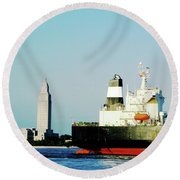 Capitol View Mississippi River Round Beach Towel