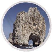 Capri Arch Round Beach Towel