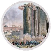 Capture Of The Bastille Round Beach Towel