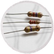 Carbon Film Resistors Round Beach Towel by Photo Researchers, Inc.