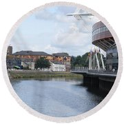 Cardiff In Wales Round Beach Towel