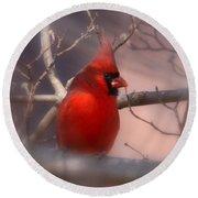 Cardinal - Unafraid Round Beach Towel