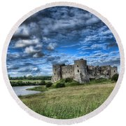 Carew Castle Pembrokeshire 3 Round Beach Towel