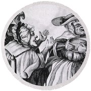 Caricature Of Three Alcoholics, 1773 Round Beach Towel