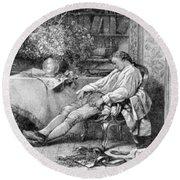 Carl Linnaeus, Swedish Botanist Round Beach Towel