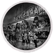 Carnival - Game-a-rama Round Beach Towel by Mike Savad